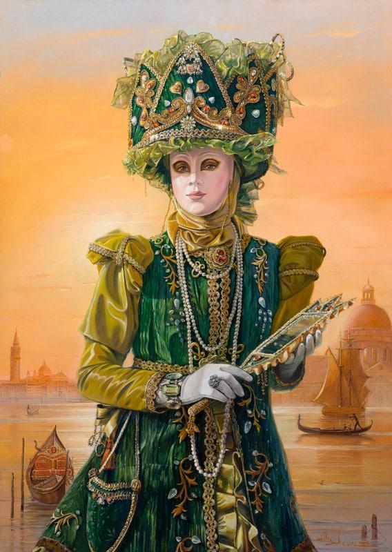 Original Oil Painting: Queen of Venice