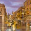 Painting: Rain of light in Tel Aviv