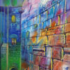 Painting: Rainy morning by the Western Wall