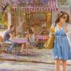 Painting: Romantic cafe on Shenkin Street