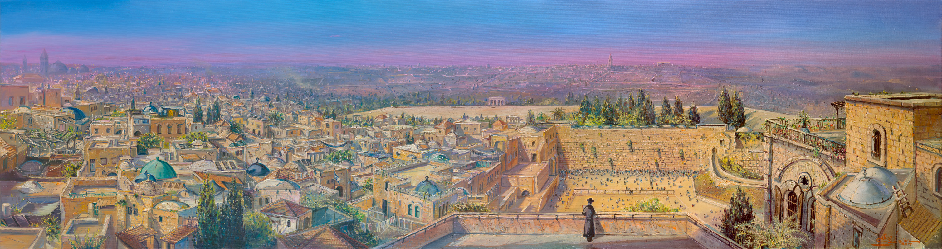 Roofs of Jerusalem, Painting by Alex Levin
