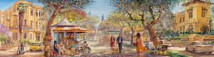 Rothschild Boulevard, Artwork by Alex Levin.
