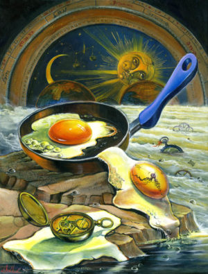 Surrealism Painting about time