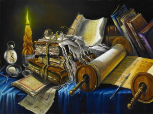 torah on the table painting