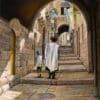 Painting: Sabbath at the Jewish Quarter in Jerusalem