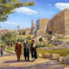 Painting: Sabbath walk by the David's Tower
