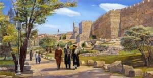 jerusalem walls painting