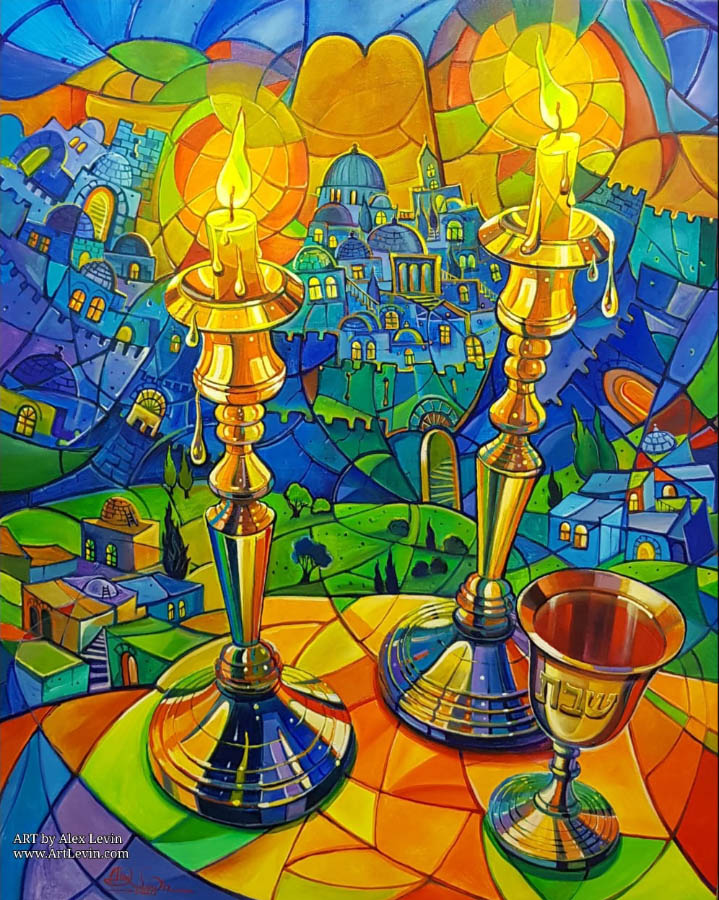 abstract jewish painting