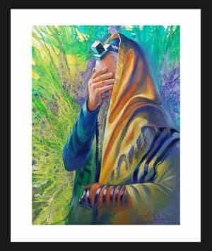 jewish praying painting