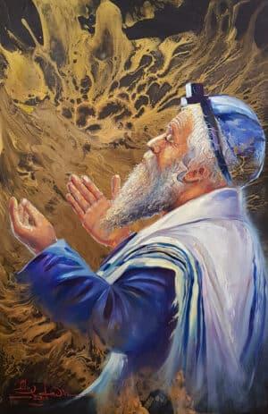 Shema Israel man praying modern