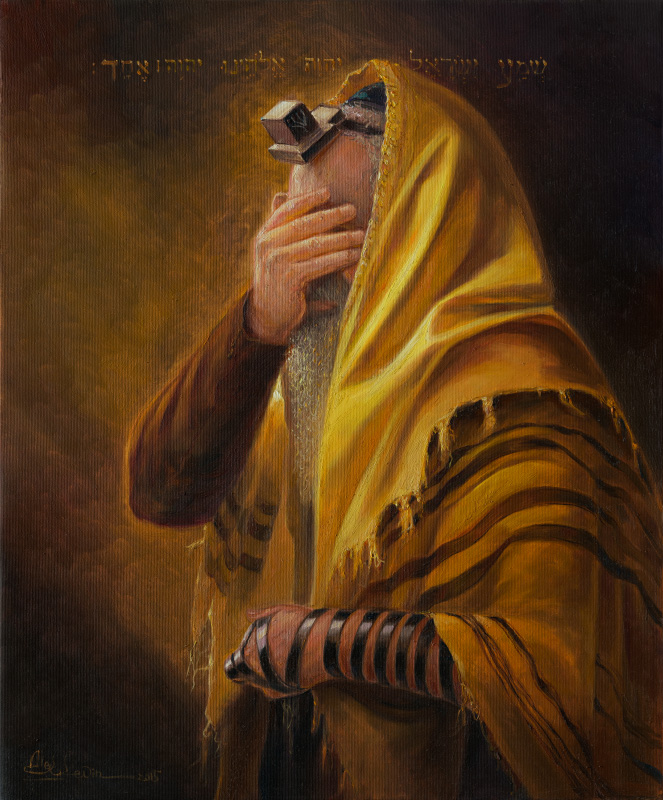 Original Oil Painting: Shema Yisrael