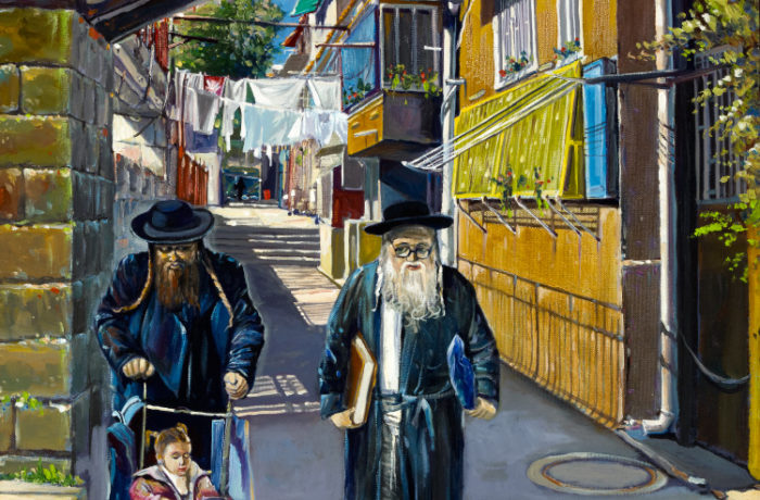 Painting: Shining day in Mea Shearim