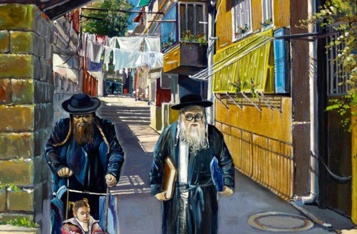 Original Oil Painting: Shining day in Mea Shearim