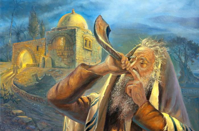 Painting: Sounds of Shofar at Kever Rachel