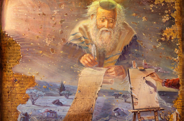 Original Oil Painting: Steps of time, The Dead Sea Scrolls