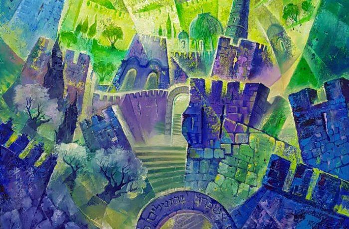 Original Oil Painting: Steps to heavenly Jerusalem