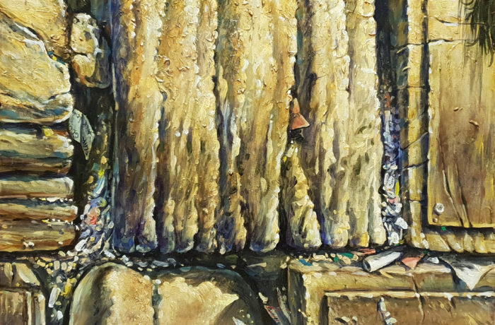 Original Oil Painting: Stones of Wailing Wall Kotel