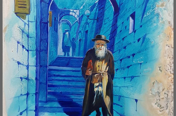 Original Oil Painting: Streets of Tzfat-Safed