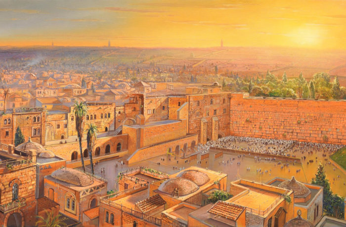 Original Oil Painting: Sunrise by the Kotel