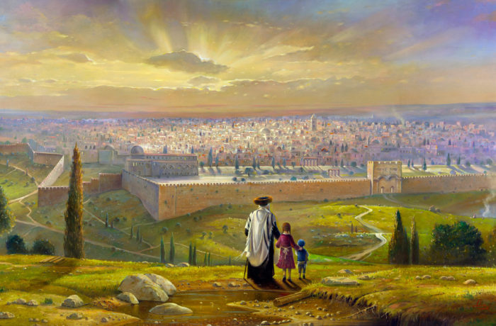 Original Oil Painting: Sunset in Jerusalem