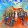 Painting: Surrounding Energy of Chuppah Ceremony