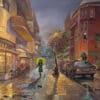 Painting: Tel Aviv listens to Miles Davis