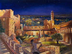 The Garden of David, Painting by Alex Levin