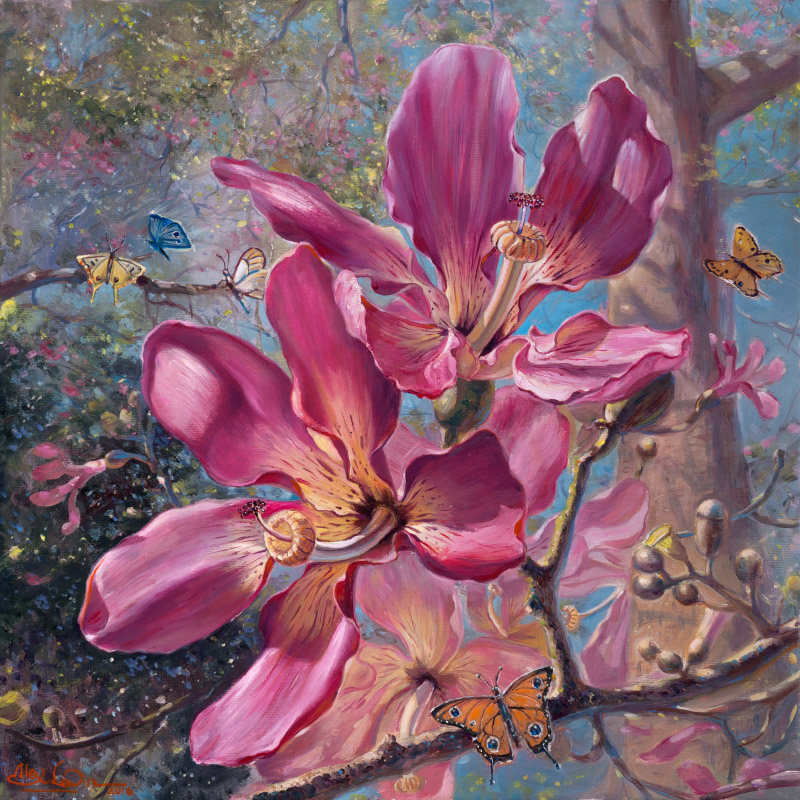 The Garden of Eden, Painting by Alex Levin