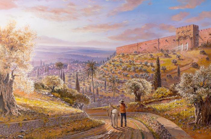 Original Oil Painting: The Golden Gate in Jerusalem