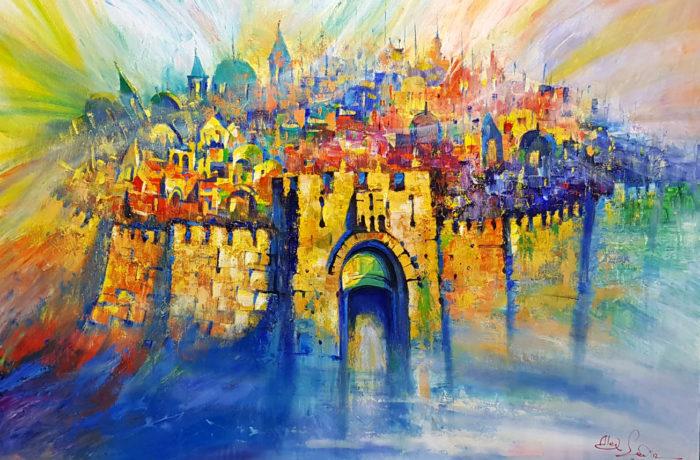 Original Oil Painting: The spirit of Jerusalem