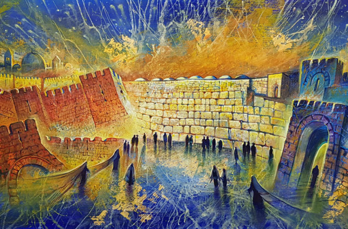 Original Oil Painting: Jerusalem – the center of the Universe