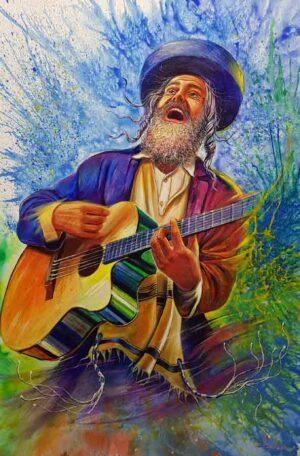 jewish musician painting