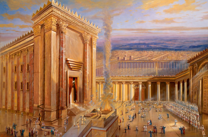 Original Oil Painting: The Second Jewish Temple