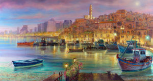 Jaffa port tel aviv painting