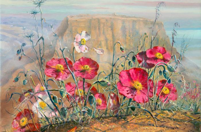 Original Oil Painting: Tragic story of Masada