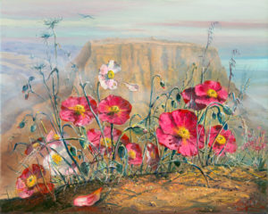 Tragic story of Masada, Painting by Alex Levin