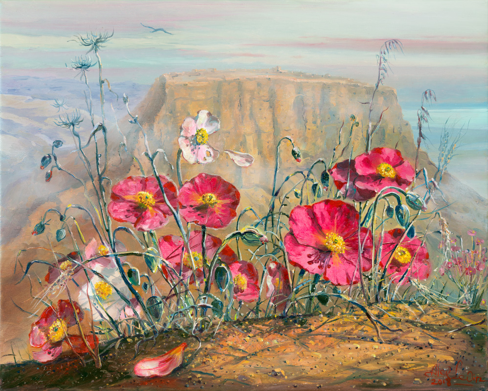 Tragic story of Masada, Painting by Alex Levin