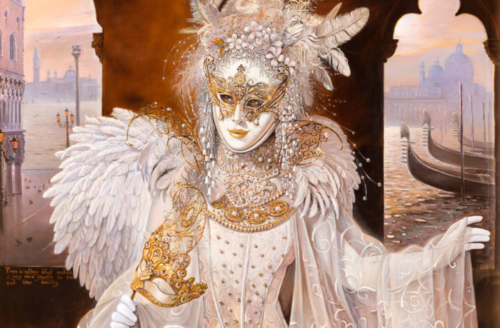 Original Oil Painting: Venetian Angel