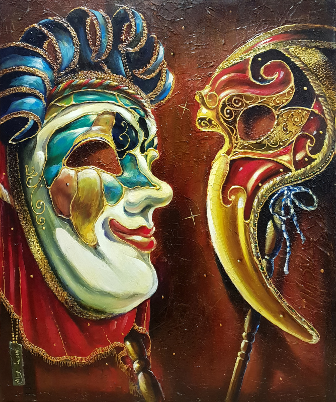 Original Oil Painting: Week before the Carnival
