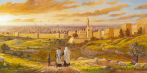 Welcome to Jerusalem, painting by Alex Levin