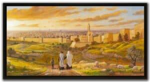 jerusalem view wall decor