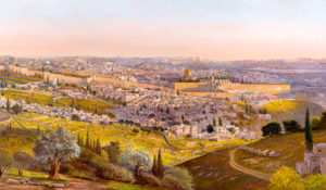 Welcoming Messiah, Painting by Alex Levin