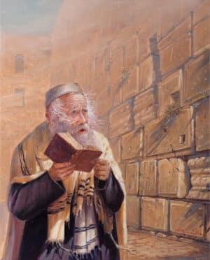 Wisdom of Jews eyes, Painting by Alex Levin