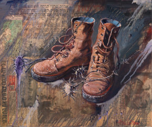 Year 1973 The day of Yom Kipur, Painting by Alex Levin
