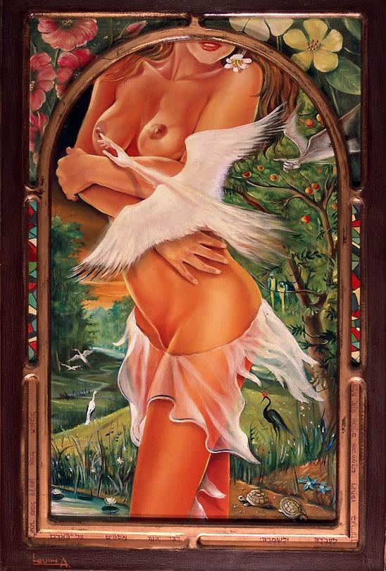 Original Oil Painting: The Garden of Eden